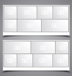 Photo Collage Frames vector image