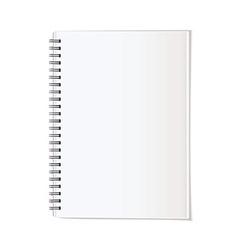 Portrait note pad vector image