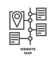 website map line icon vector image vector image