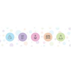 5 beaker icons vector