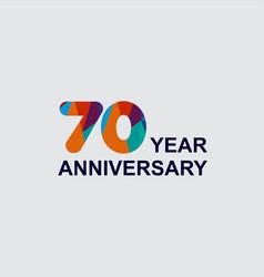 70 year anniversary template design vector