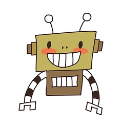 A view of robot vector image