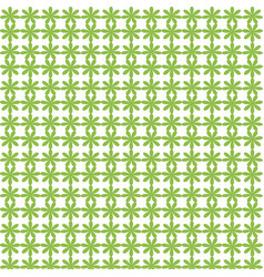 abstract green flower seamless pattern background vector image