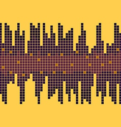 Background with Equalizer Yellow and Violet Bright vector