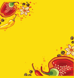 backgroundof colored bell peppers vector image
