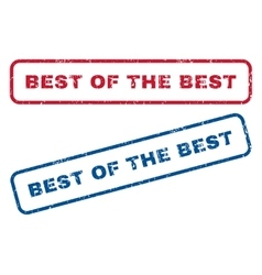 Best Of The Best Rubber Stamps vector image