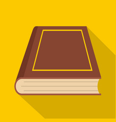 book closed icon flat style vector image