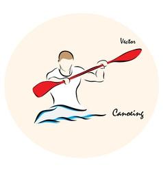 Canoeing vector