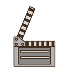 Cartoon film clapper vector