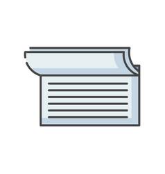 checkbook rgb color icon vector image
