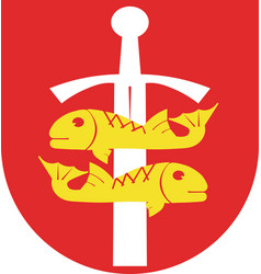 coat of arms of gdynia in the pomeranian vector image