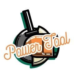 Color vintage power tools store vector