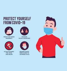 Covid19-19 prevention infographic vector