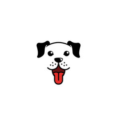 Creative dog pet head face logo vector