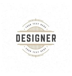 Designer design element in vintage style vector