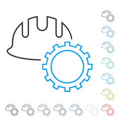 development hardhat line icon vector image