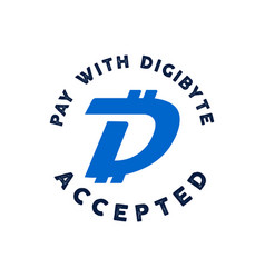digibyte logo digital asset concept pay with dgb vector image