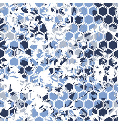 digital hexagonal blue pattern vector image
