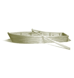 Engraved Row Boat vector image
