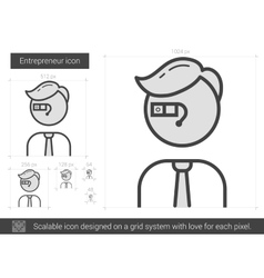 Entrepreneur line icon vector