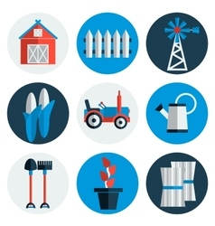 Farming flat icons vector