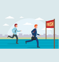 finish concept background flat style vector image