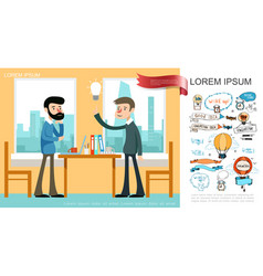 flat business idea concept vector image