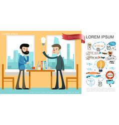 Flat business idea concept vector