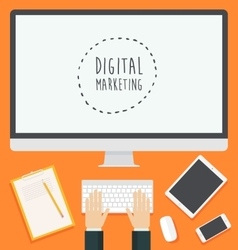 Flat design concept web Digital Marketing trendy vector image