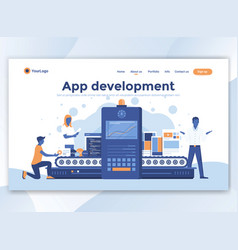 flat modern design of wesite template - app vector image