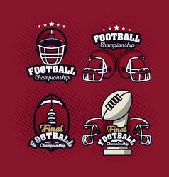 Football championship labels vector
