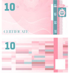 gift certificate voucher template 10 with vector image