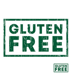 Gluten free stamp with grunge texture and clear vector