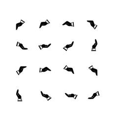 hand black vector image