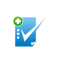 Health check mark vector