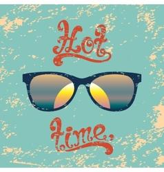 Hot summer time handwritten background vector