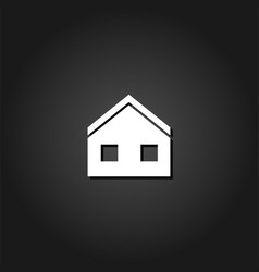 house icon flat vector image