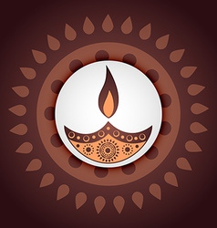 indian festival of diwali vector image