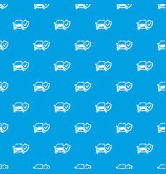 insurance car pattern seamless blue vector image