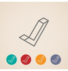 Isometric check mark icons vector