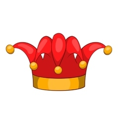 Jester hat icon cartoon style vector image