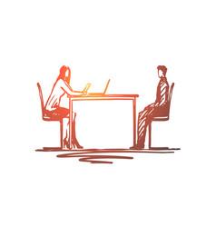 job interview hiring recruitment work concept vector image