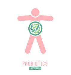 Lactobacillus probiotics icon vector