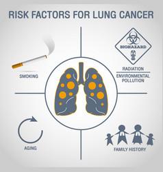 Lung cancer logo icon design vector