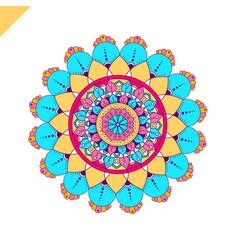 Mandala vintage decorative elements hand drawn vector