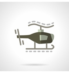 Military robots flat icon Helicopter vector