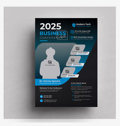 Modern business conference flyer template vector