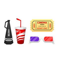 movie elements vintage cinema entertainment vector image