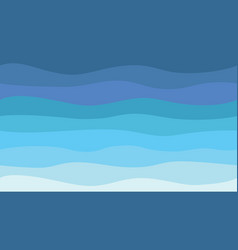 Nature abstract sea background hd blue waves vector