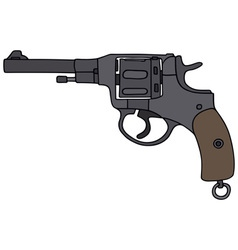 Old revolver vector image